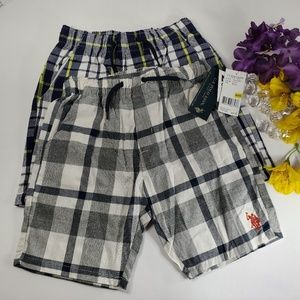 Polo Plaid Set of Shorts, New